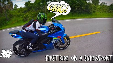 girl rides  gsxr sport bike    time youtube