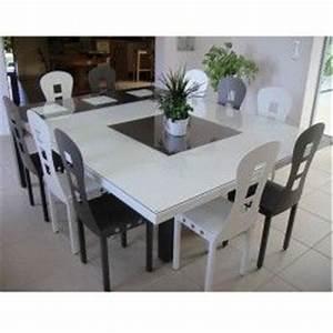 superbe table carree de salle a manger fabrication With salle À manger contemporaineavec table salle a manger metal