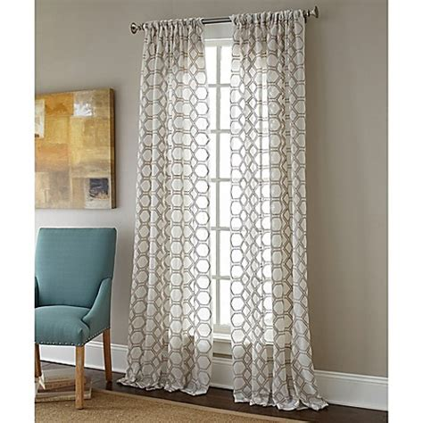 sheer curtains bed bath and beyond sherry contempo rod pocket embroidered sheer window