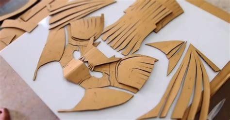 cardboard armor template dali lomo batman costume helmet mask cardboard template