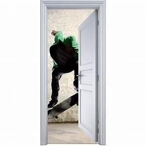 Deco Porte Interieure En Trompe L Oeil : sticker porte trompe l 39 oeil skatteur 90x200cm art d co stickers ~ Carolinahurricanesstore.com Idées de Décoration