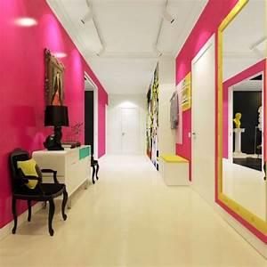 deco couloir amenagement en 30 photos With porte d entrée pvc avec tapis salle de bain vieux rose
