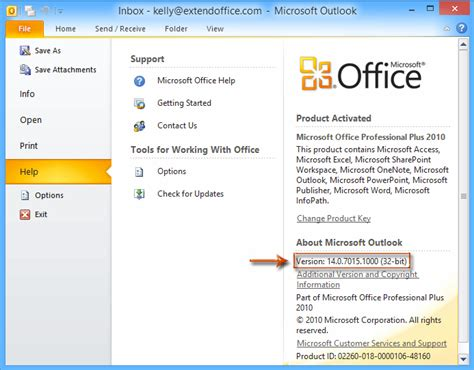 Office Version Numbers by How To Determine Which Outlook Version Number I M Using