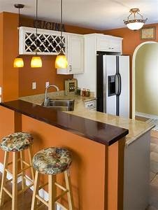 decorating with warm rich colors orange walls white With kitchen colors with white cabinets with four seasons wall art