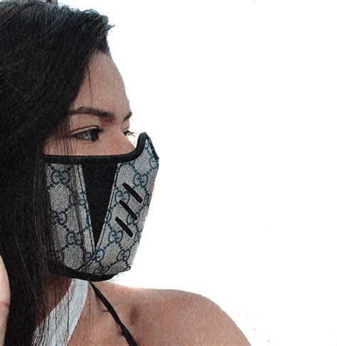 gucci designer masks beige cuir trou gg