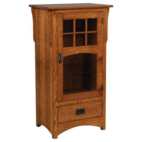 New Mission Media Cabinet   Amish Crafted Furniture