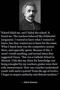 Albert Einstein On School & Education | quotes | Pinterest