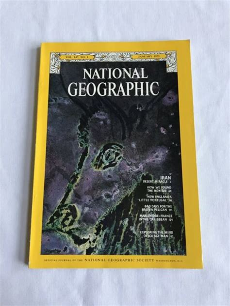 """National Geographic Magazine 1975 January """"Iran Desert ..."""