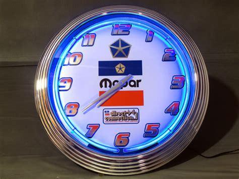 mopar direct connection royalblue neon clock details