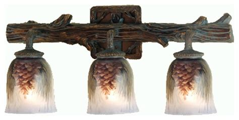 meyda tiffany bathroom wall sconce in bark brown rustic