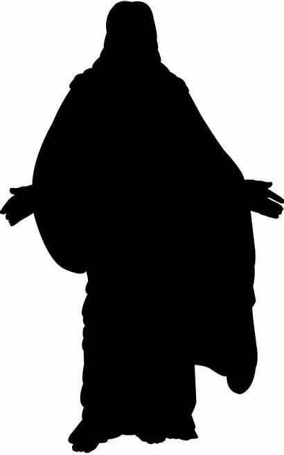 Jesus Silhouette Clipart Silhouettes Vector Christ Svg