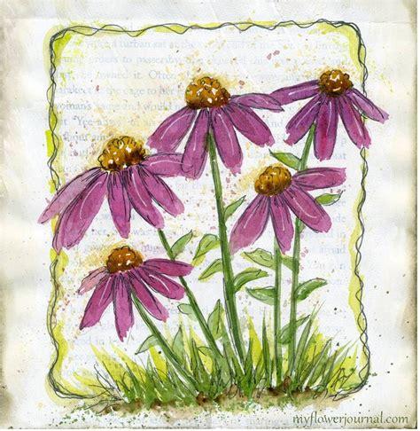 watercolor on gesso watercolor originals and flower