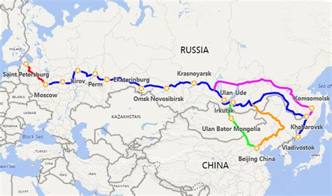 Trans Siberian Travel Planner