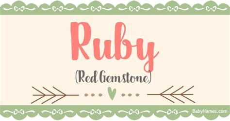 ruby meaning