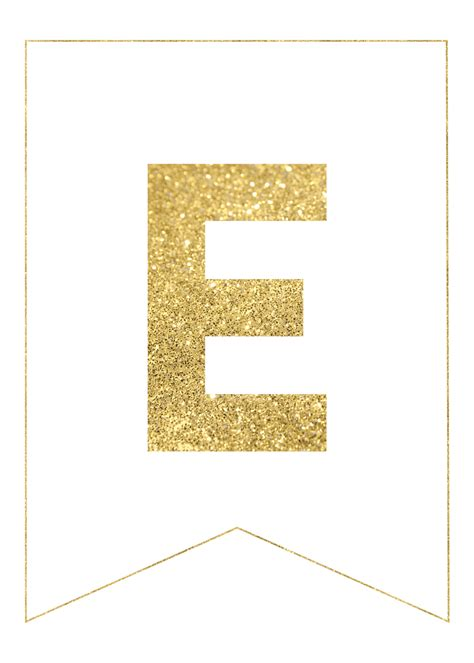 gold  printable banner letters rolas party