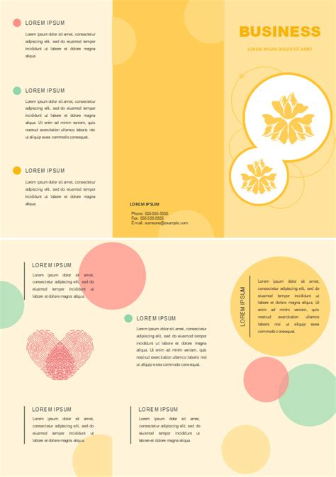 yellow background brochure  yellow background brochure templates
