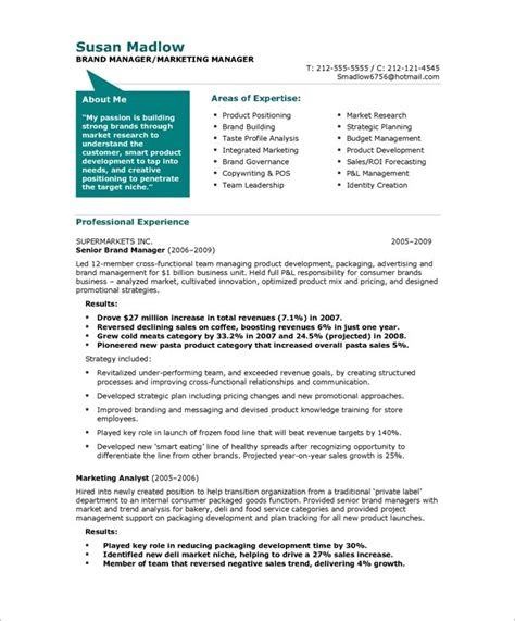 marketing manager resume free resume sles blue sky