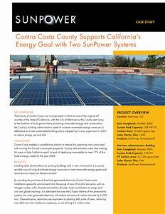 Contra Costa County Supports California U2019s Energy Goal With
