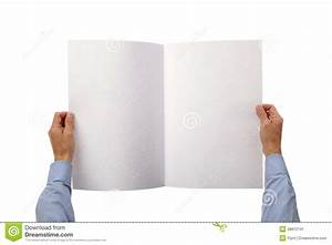 Hands Holding Blank Newspaper Stock Image - Image: 38812741