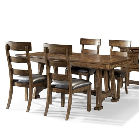 trestle table and chairs aamerica ozark transitional 5 piece trestle table and