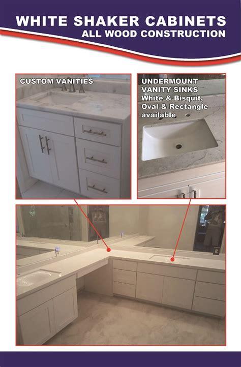 white shaker cabinets fort lauderdale fl new bathroom