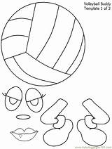 Volleyball Coloring Pages Printable Template Sports sketch template