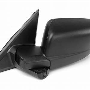 Left Driver Side Black Manual Replacement Side Mirror For