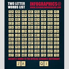 Official 2 Two Letter Word List For Scrabble Visually