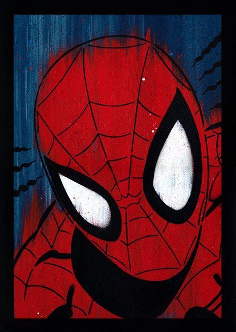 spider man spray painted spiderman canvas art avengers