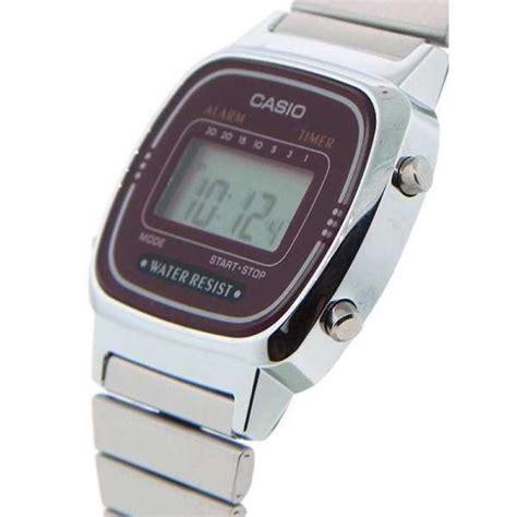 orologio casio piccolo casio la670wa 4df orologio digitale bordeaux originale