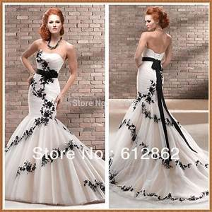popular black lace back mermaid wedding dress buy cheap With buy black wedding dress