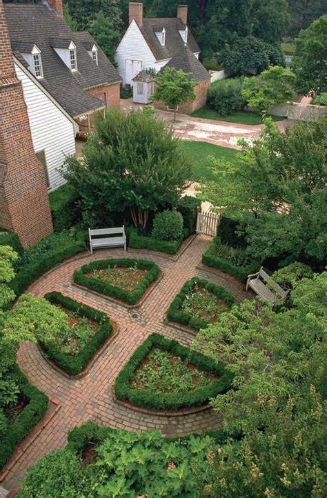 colonial williamsburg garden garden ideas
