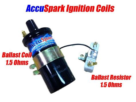 Accuspark Back V8 Ballast Ignition Coil + 1.5 Ohm Ballast