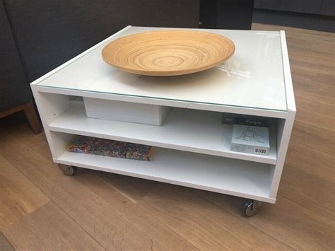 Spend this time at home to refresh your home decor style! White coffee table with glass top - IKEA   in Kentish Town, London   Gumtree