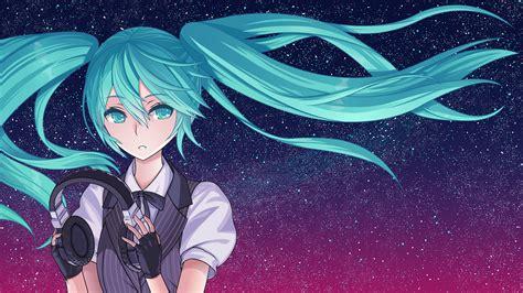 Starry Sky Anime Wallpaper - hatsune miku starry sky hd wallpaper and background