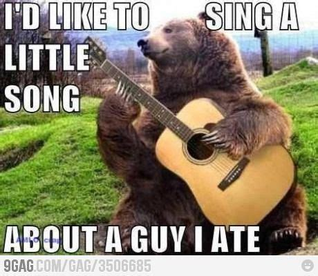 Bear Stuff Meme - i d like to sing a song jack o connell the bear and songs
