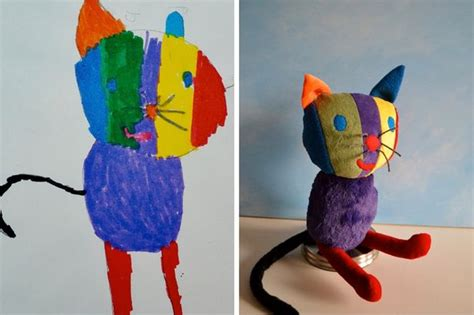 toy company transforms  childs artwork   stuffed