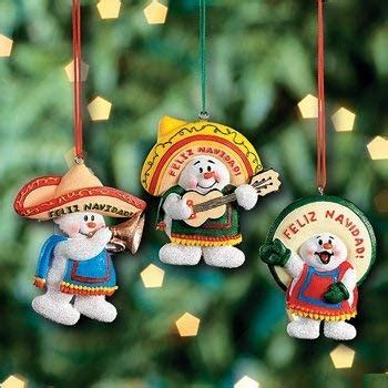 christmas in mexico decorations 3 feliz navidad snowman ornaments mexican decor tree decorations