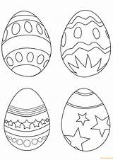 Easter Coloring Egg Eggs Pages Printable Simple Colouring Ostereier Drawing Supercoloring Paques Easy Arts Line Ausmalbilder Coloriage Imprimer Sheets Oeuf sketch template