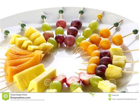 fruit canapes different sort of fruit canape stock image image of food