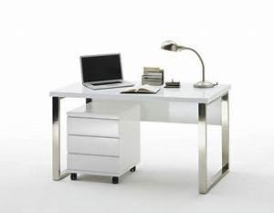 Weiße Hochglanz Möbel : schreibtisch oliver i wei e m bel hochglanz schreibtisch office arbeitszimmer b ro ~ Indierocktalk.com Haus und Dekorationen