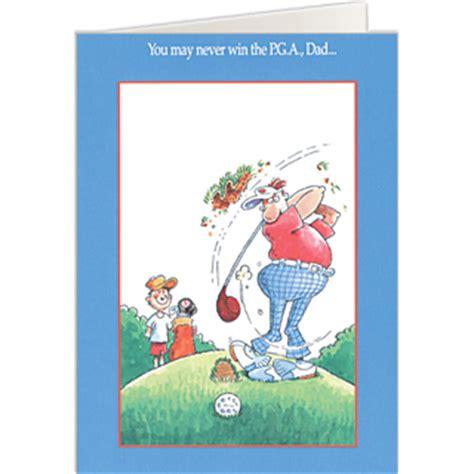 pga dad golf fathers day card golf cards  dad
