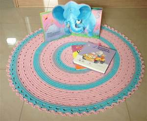 Baby Tapete Rosa : tapete de croche redondo rosa e azul baby gabrielly no ~ Michelbontemps.com Haus und Dekorationen