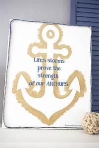 DIY Anchor Canvas Quote Art
