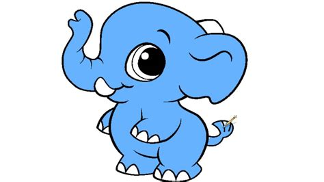 baby elephant coloring page  kids youtube