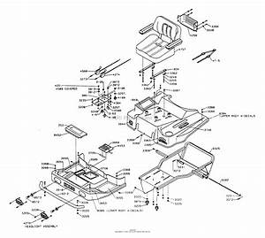 Dixon Ztr 5501  1994  Parts Diagram For Body Assembly