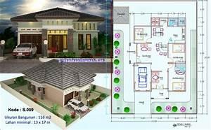 54 Gambar Desain Rumah Minimalis 1 Lantai 3 Kamar Tidur 3D Terbaik Unduh