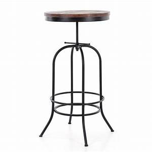 Table Mange Debout Style Industriel : table haute ronde mange debout style industriel en bois et acier hauteur r glable unit ~ Melissatoandfro.com Idées de Décoration