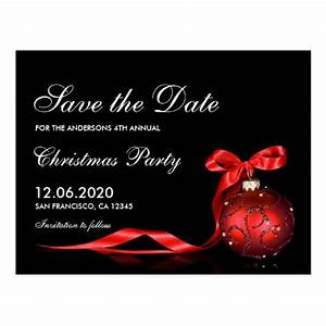 Christmas & Holiday Party Save The Date Postcard | Zazzle