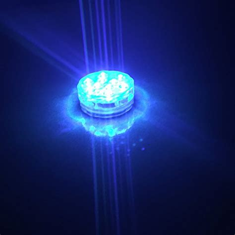 qicai  submersible led lights battery operated rgb multi